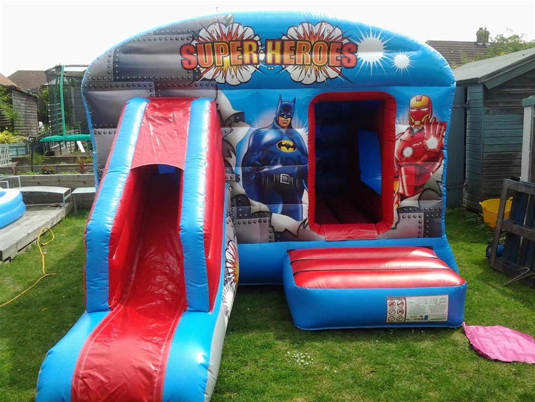 Superhero Bounce n Slide  Bounce n Slides  Bouncy Castle Hire in Bexleyheat # Sunshower Hire_224249