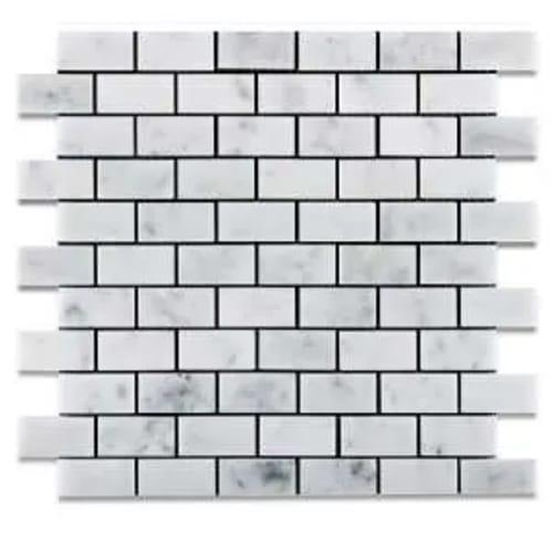 Carrara Marble Mosaic Brick