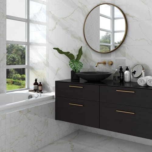 Carrara Gold Marble Effect