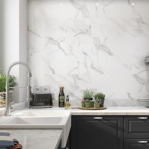 Carrara Grey Marble Effect