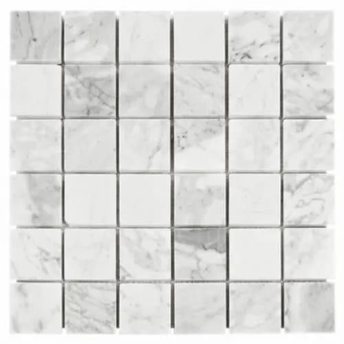 Carrara Marble Mosaic Square