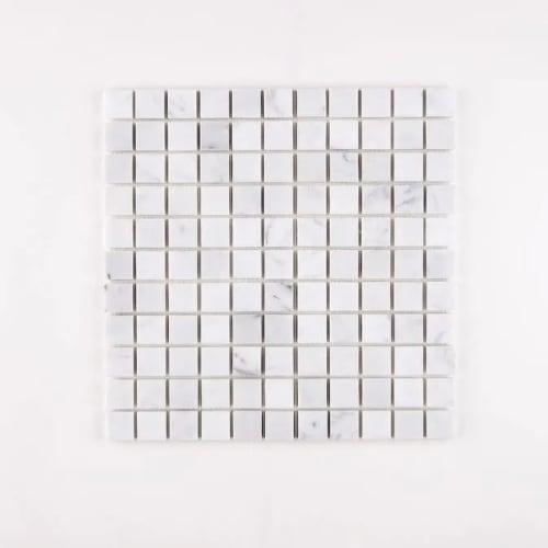 Carrara Marble Mosaic Square Small