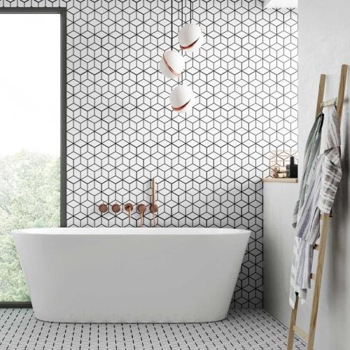 Notre White Hexagon Tile