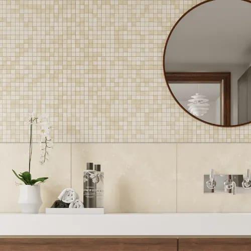 Tumbled White Travertine Mosaics