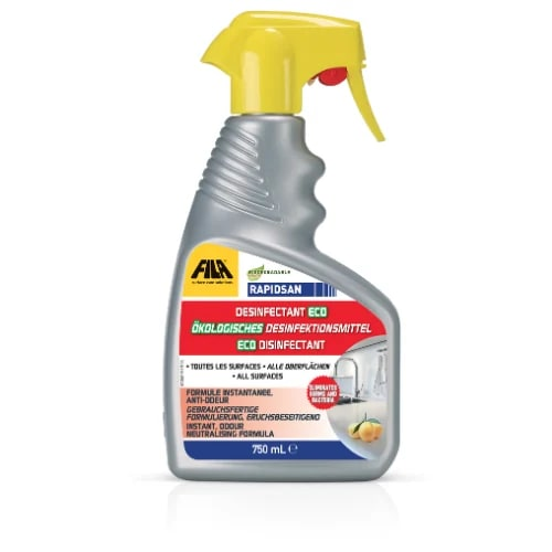 Curated FILA products for regular care and maintenance of tile surfaces and grout joints. Now includes sanitiser to keep surfaces germ free.