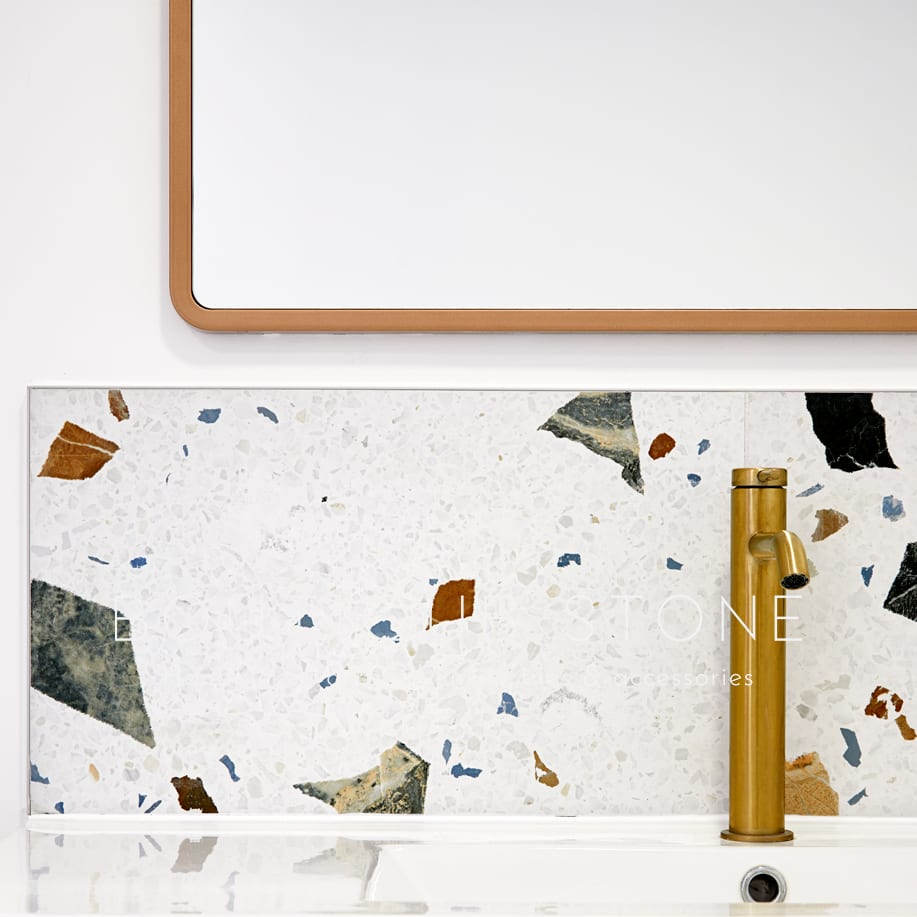 Our high quality Italian Eccitare Terrazzo porcelain tiles are here. Inspired by the exuberance, excitement, and cheerfulness of terrazzo they are gorgeous in Ivory, White, and Grey