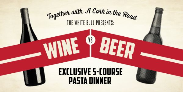 Event Image for Wine vs Beer Exclusive Pasta Dinner Event