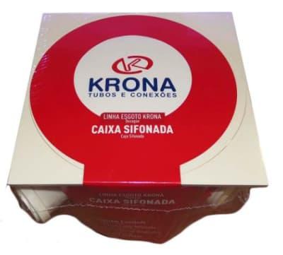 CAIXA GORDURA SIF 22 QUAD. DN 250 X 230 X 75 KRONA