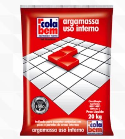 ARGAMASSA AC1 CERAMICA INTERIOR 20KG COLA BEM