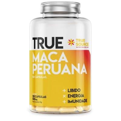 Maca Peruana True Source 1000mg 60 cápsulas  (SEM GLÚTEN)