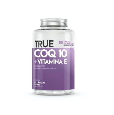 Q10 + Vitamina  E 60CAPS  True Source (SEM GLUTEN)