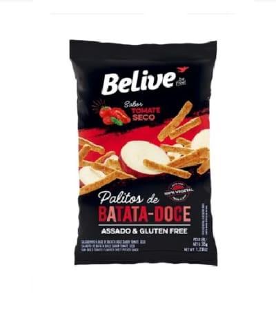 Snacks de Batata Doce Sabor Tomate Seco 35g - BeLiVe