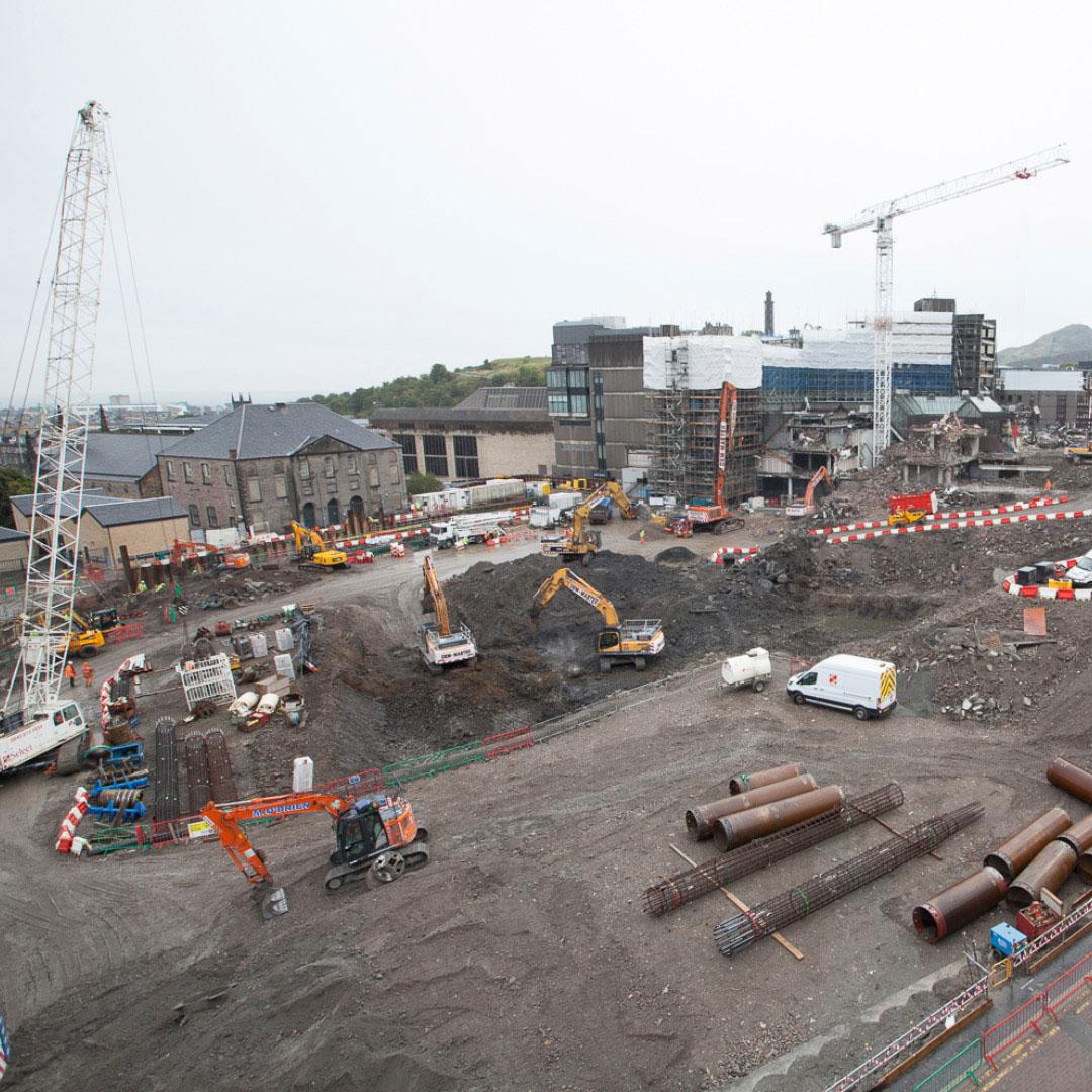 Construction underway at Edinburgh St James