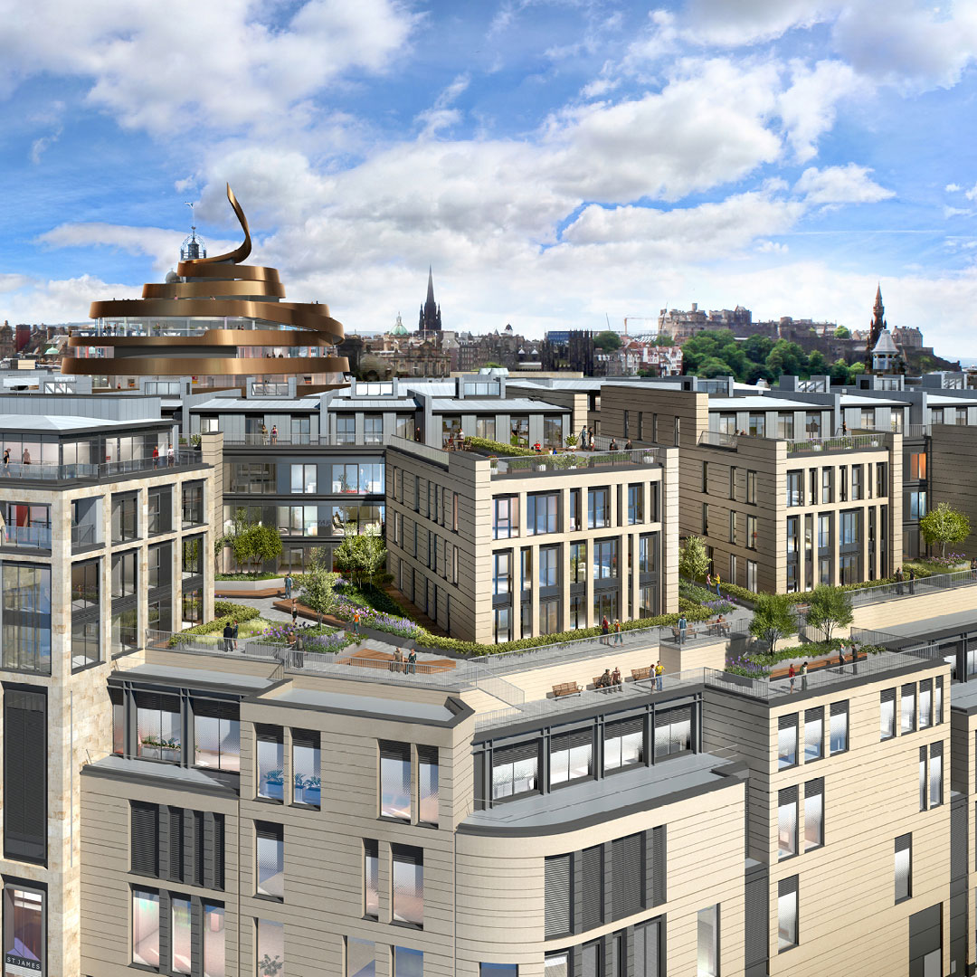 Edinburgh St James completes leisure and residential line up with Roomzzz Aparthotel's Scottish debut