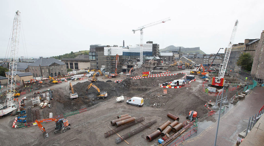 Demolition in numbers: Edinburgh St James marks first year onsite