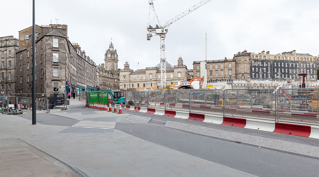 Leith Street reopens following major infrastructure works