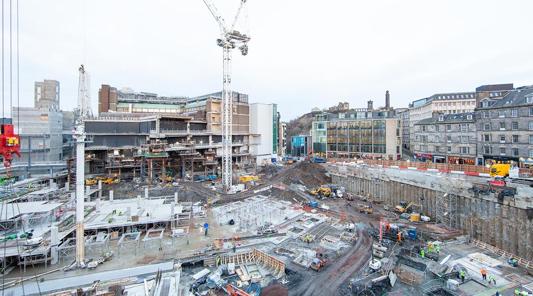 Edinburgh St James construction investment hits almost £112m locally in 2018