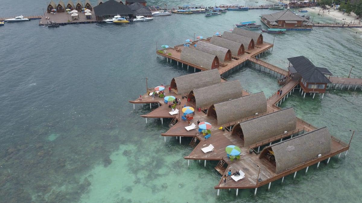 Penginapan Villa di Pulau Tegal Mas Lampung