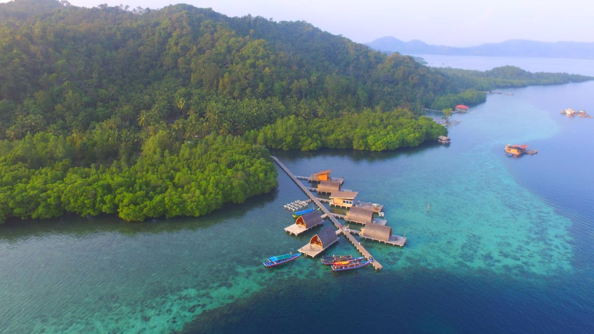 Penginapan Villa Laut di Pulau Pahawang Lampung