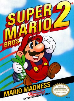 Super Mario Bros. 2 box art