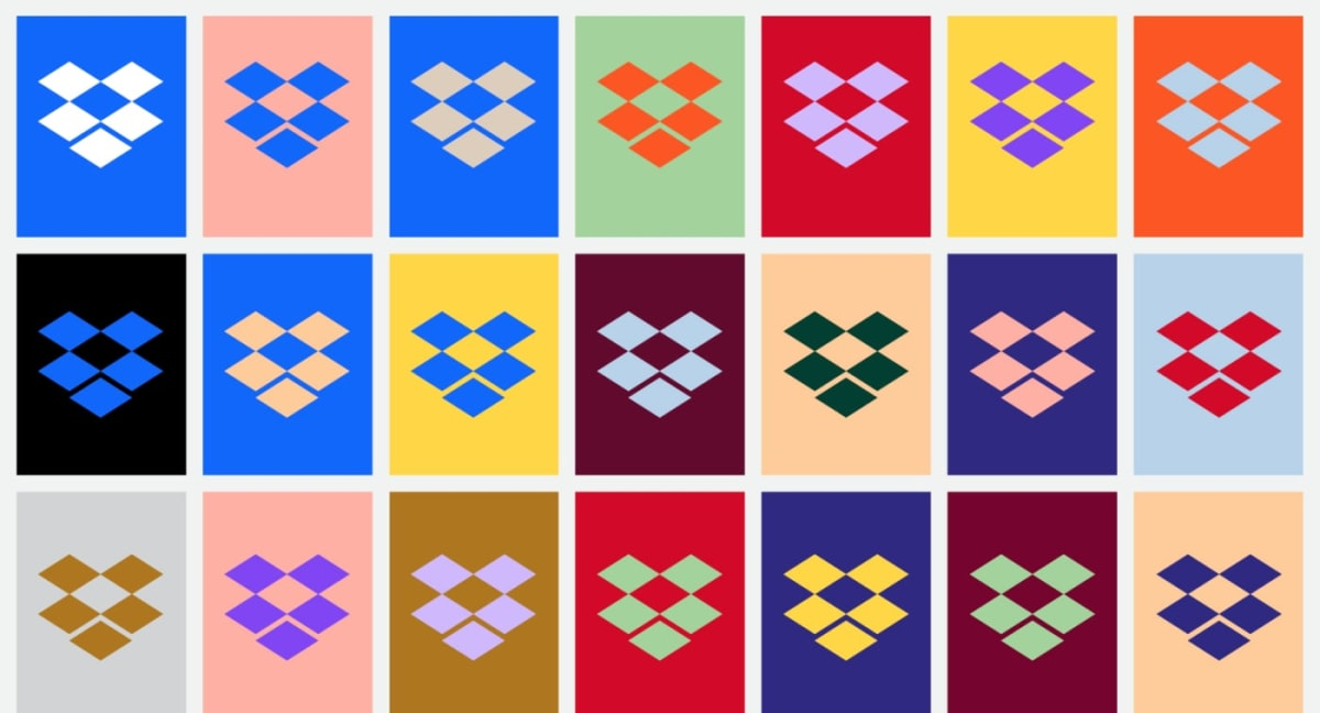 Dropbox Color Logos