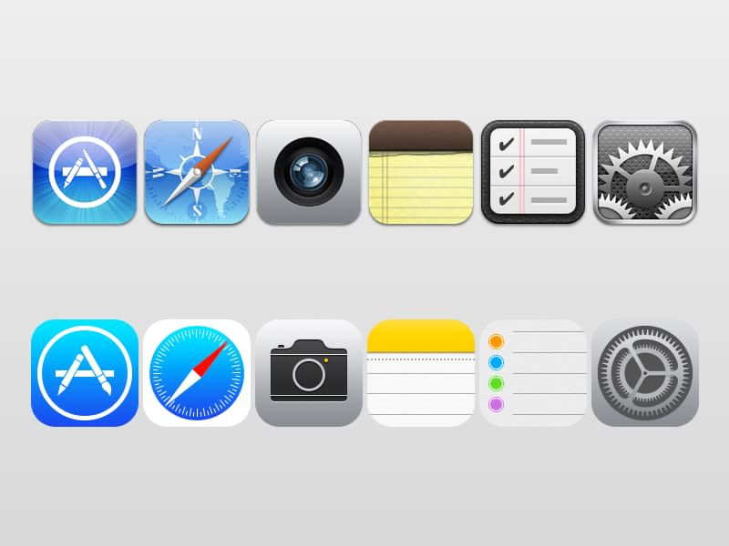iOS Icon Comparison