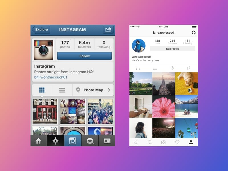 Flat Design Instagram