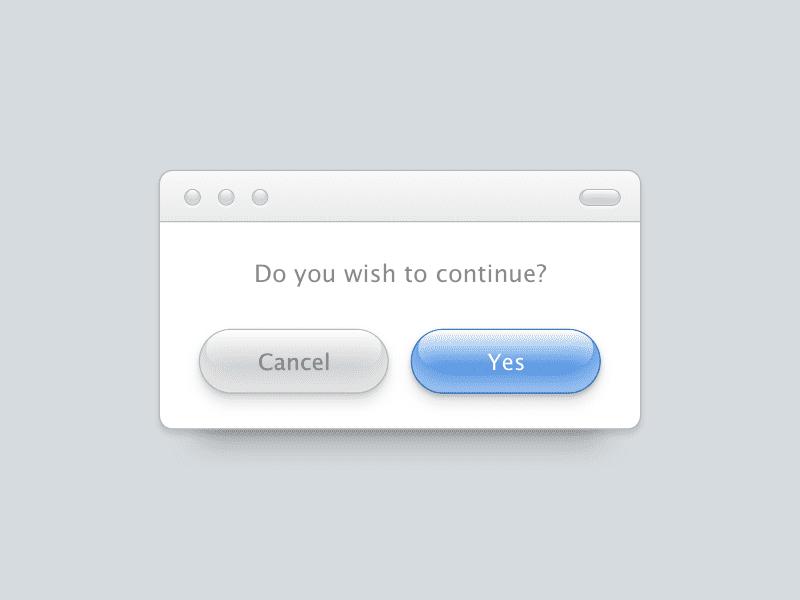 Aqua UI buttons