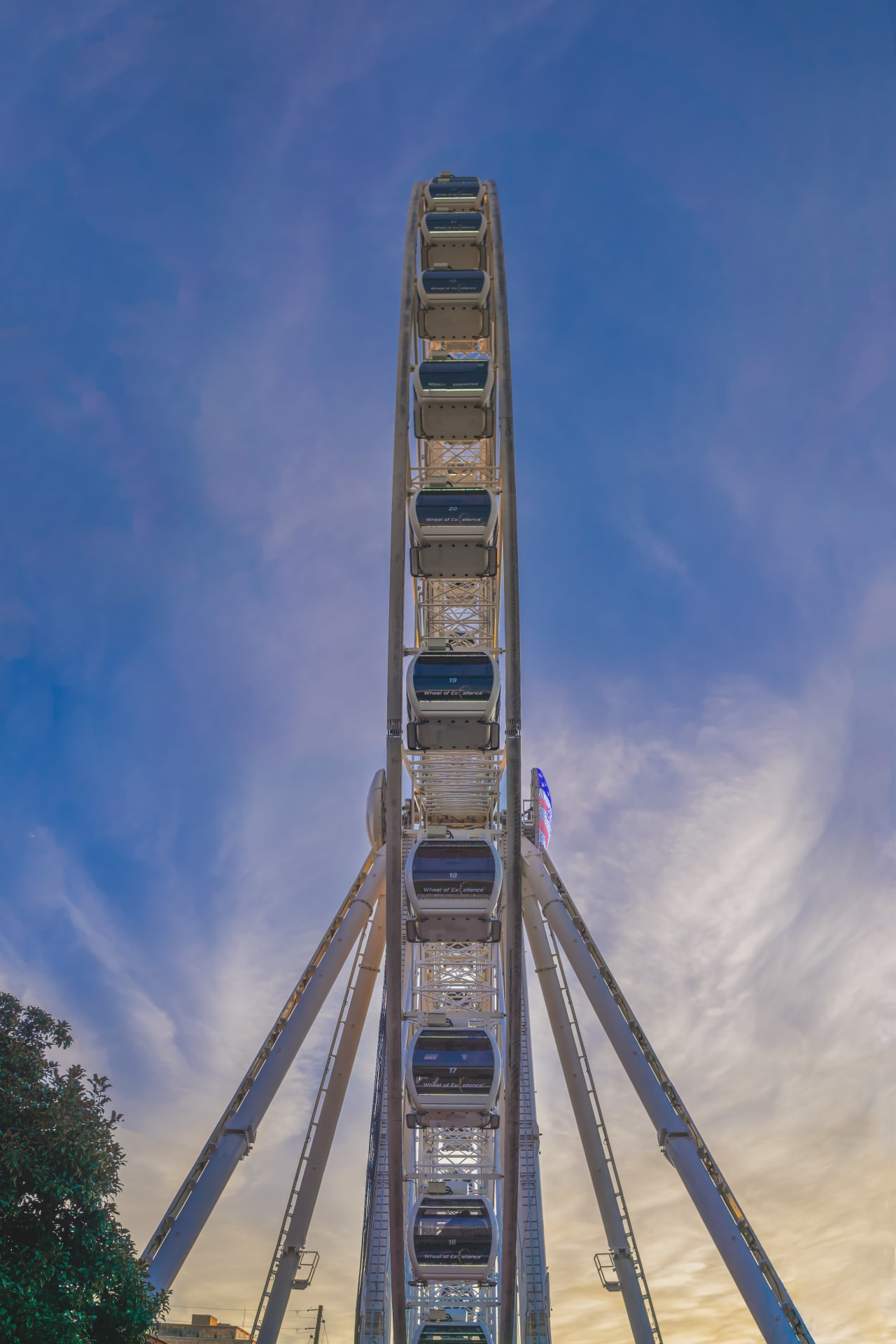 Profile of a Ferris Wheel