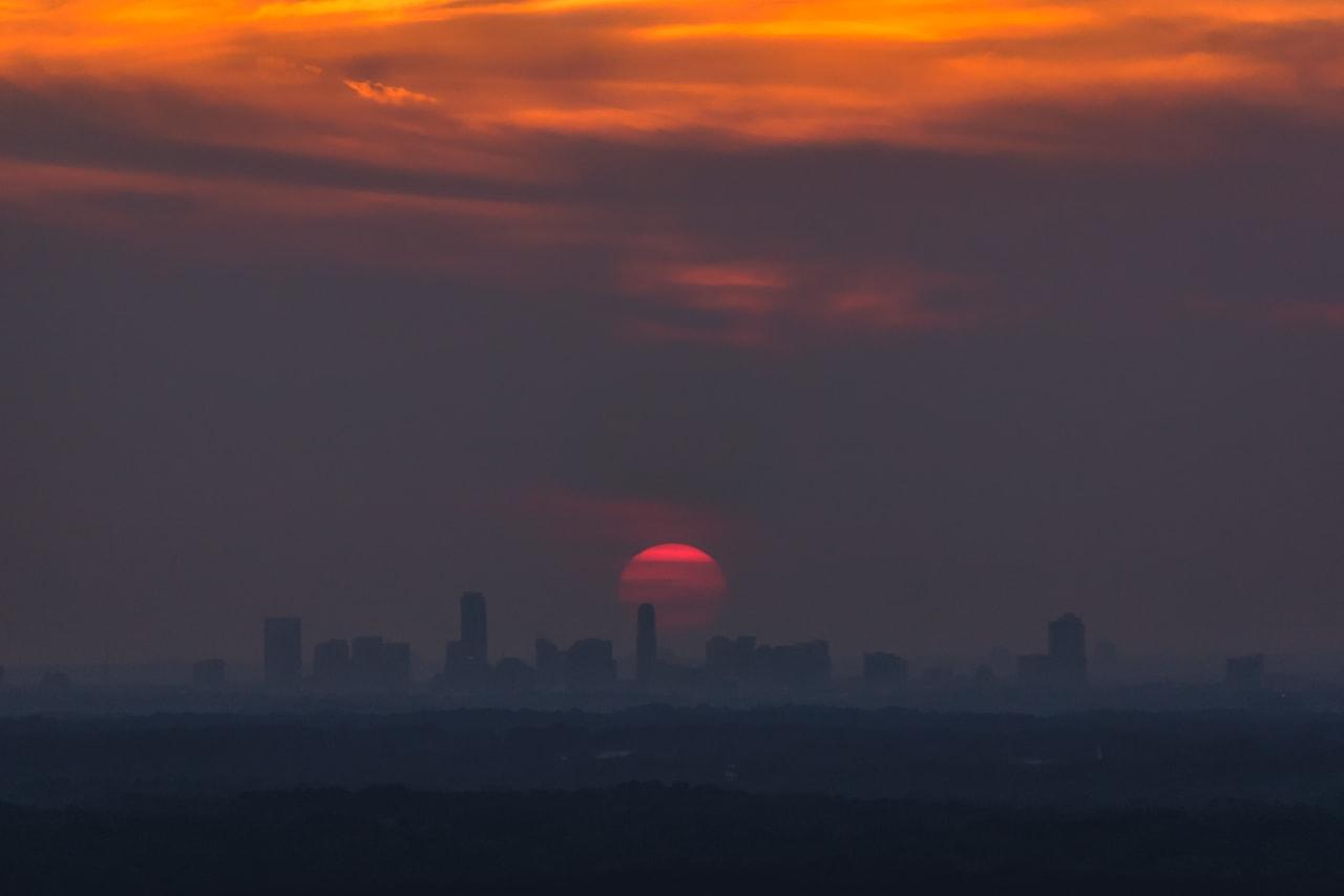Sunset Behind the Buckhead Skyline on August 24th, 2018