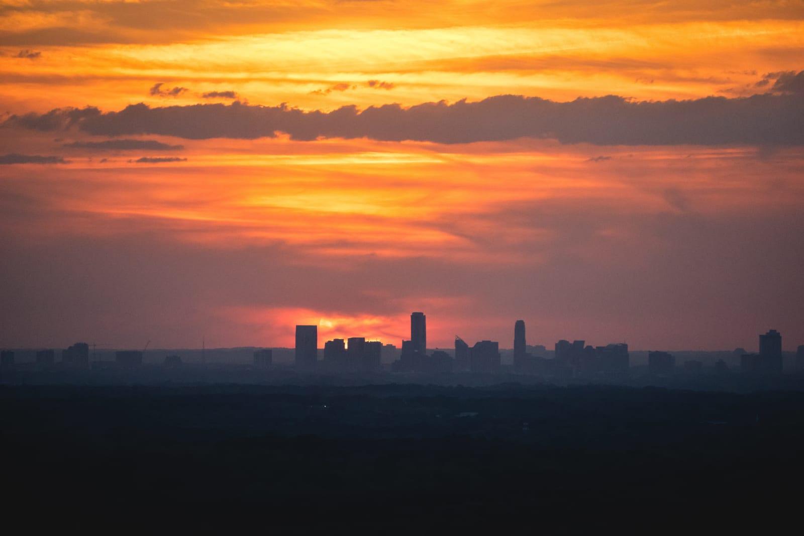 Sunset behind the Buckhead Skyline