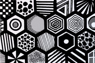 Hexagon Masks (pieces)