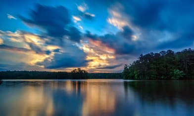 Long Reflections  20s exp at sunrise on 2016-06-02