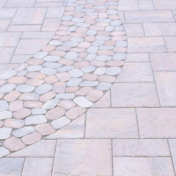 Creative mix of concrete pavers