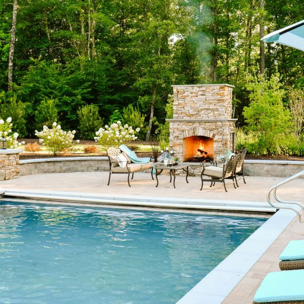 Sit by the fireplace or play in the underground pool
