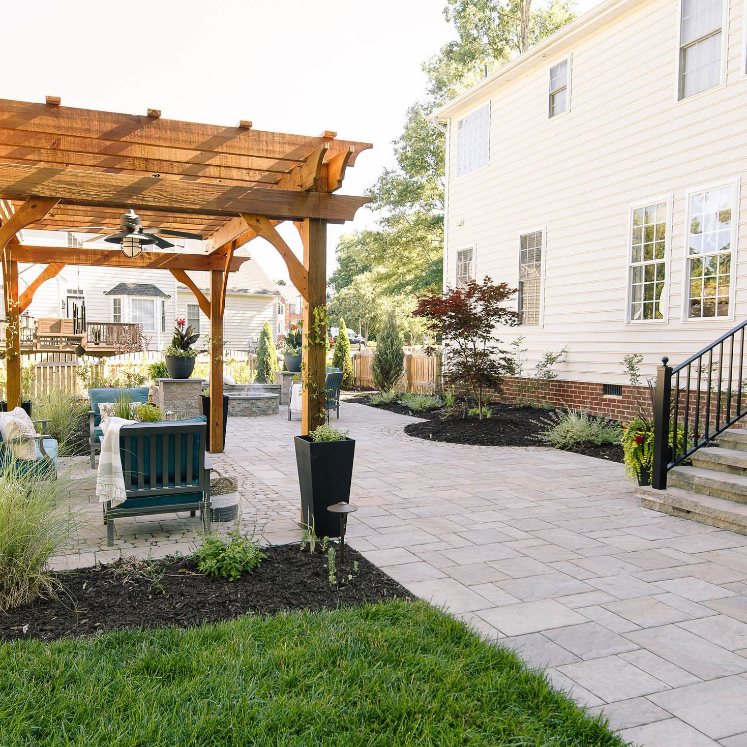 A Polished Casual Glen Allen Backyard