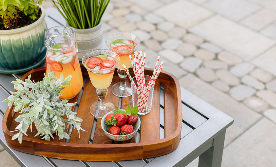 Summer snacks on a new patio