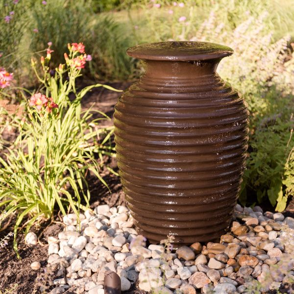 bubbling urn in the landscape