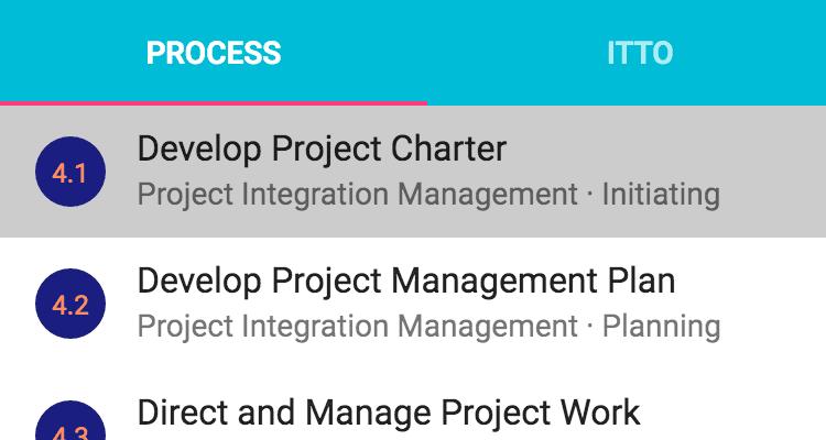 ITTO Explorer Process List