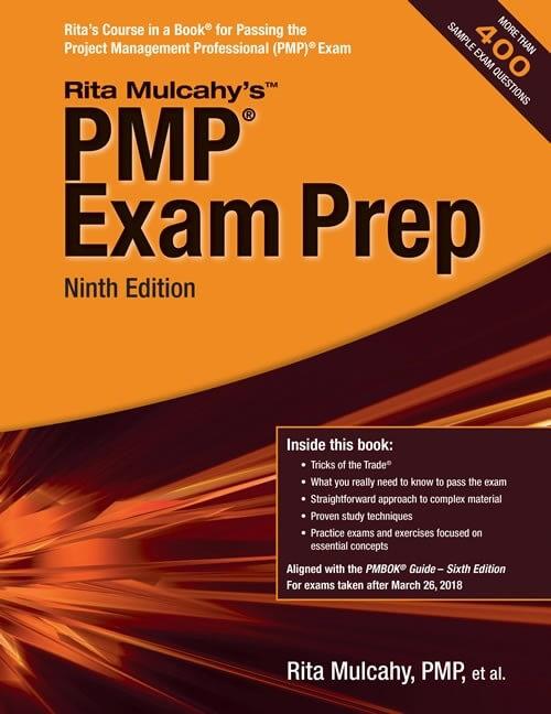 Rita Mulcahy PMP Exam Prep Ninth Edition Cover