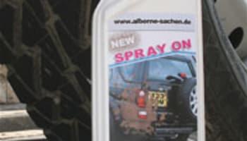 Spray-on mud