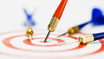 One Dart on Bull's Eye While Three Darts are Off Target