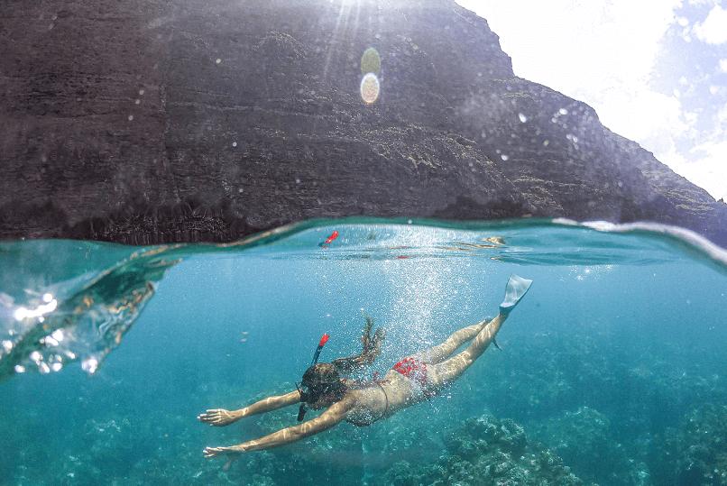 Míša s Honzou se na jejich Work and Travel stihli i potápět.