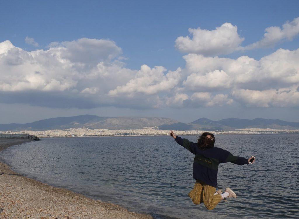 Valérie při svých cestách v Řecku.