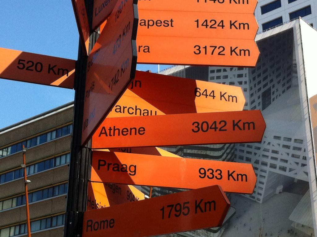 Utrecht směrovky na nádraží