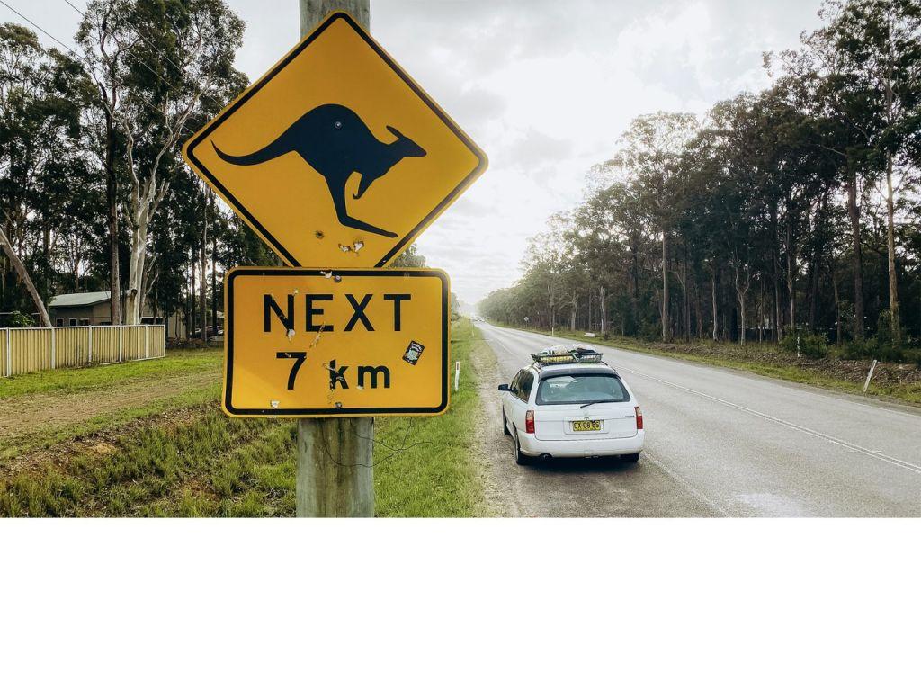 Austrálie značka s klokany