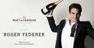 Federer Moet Brand Ambassador