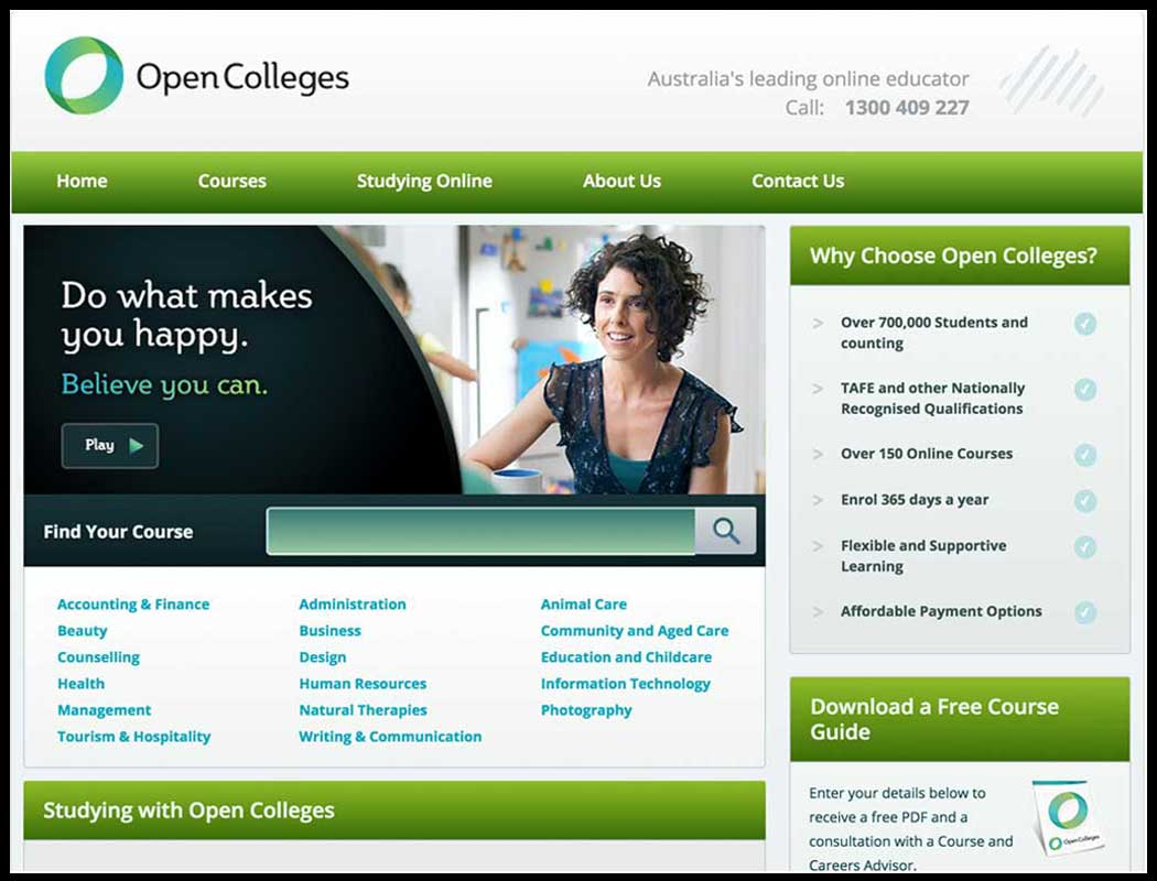 open colleges case study