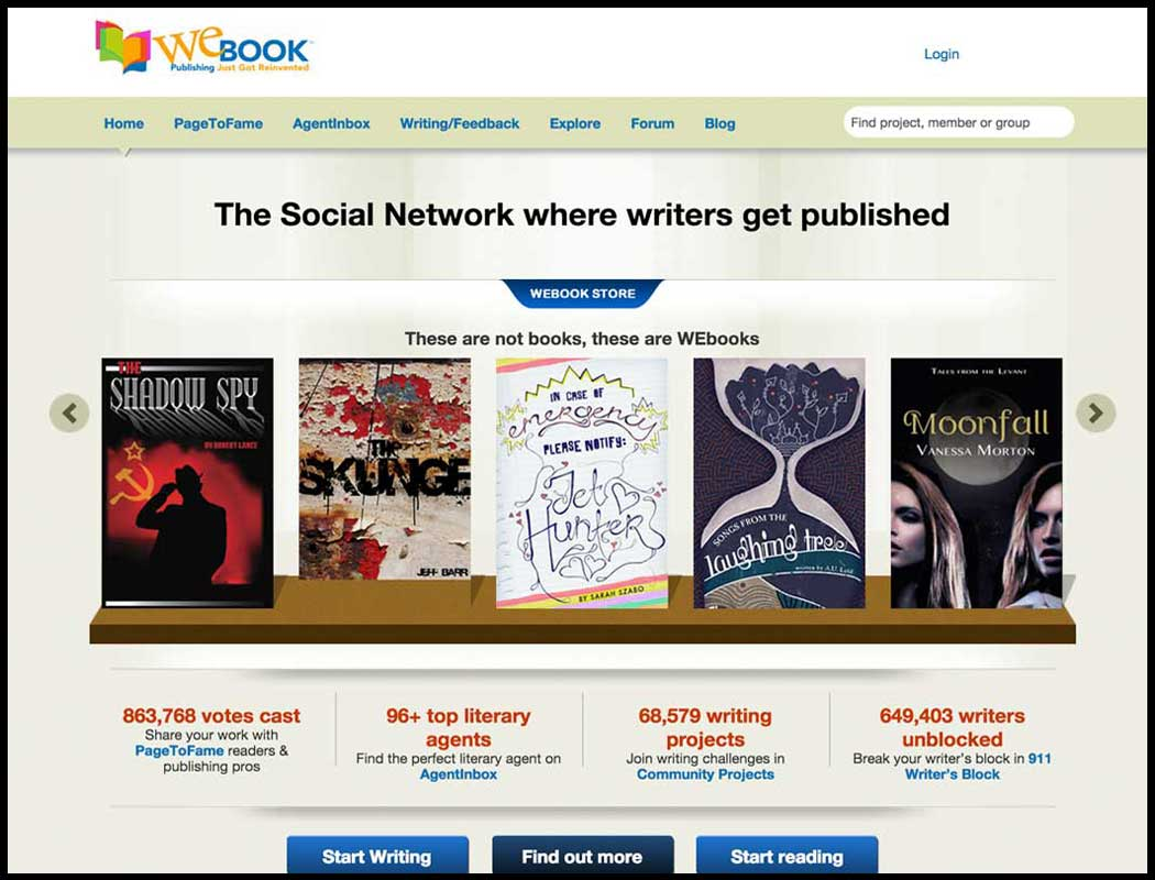 webook writing platform
