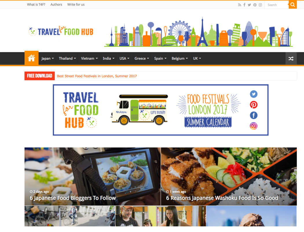 Travel for Food Hub